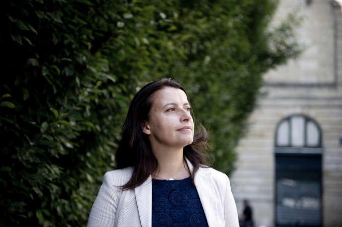 Cécile Duflot, députée de Paris, à Bordeaux à l'occasion des journées d'été d'Europe Ecologie-Les Verts, le 20 août.