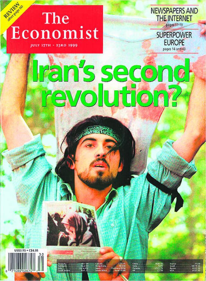 Ahmad Batebi, à la « une » de « The Economist » du 17 juillet 1999.
