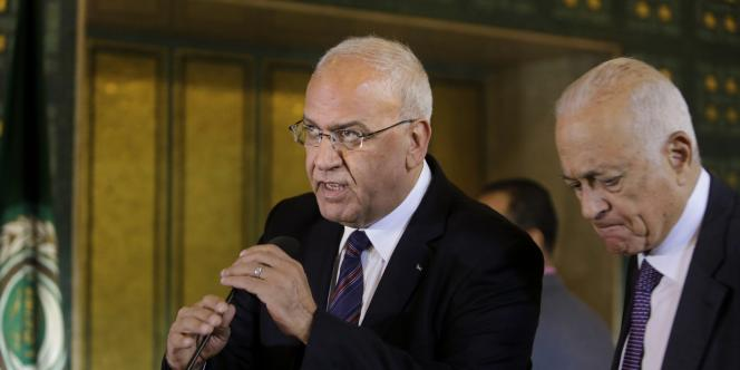 Saeb Erekat, principal négociateur palestinien, le 11 août au Caire.