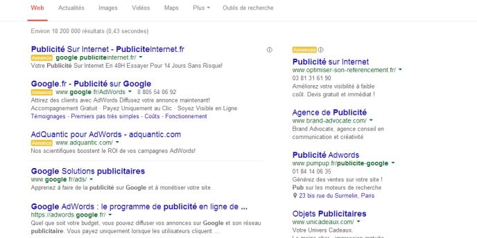 Les budgets publicitaires en ligne sont essentiellement dirigés vers Google, Facebook et Yahoo.