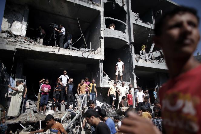 A Rafah, après une frappe israélienne, le 21 août.