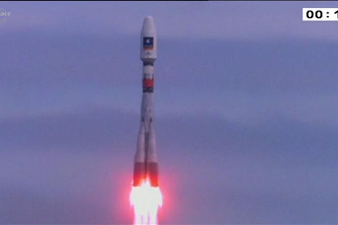 Lancement des satellites de Galileo à bord de Soyouz.
