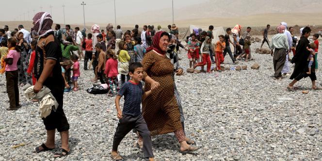 Selon le Haut-Commissariat pour les réfugiés des Nations unies (HCR), la seule région du Kurdistan, dans le nord de l'Irak, abrite quelque 600 000 déplacés, dont de nombreux chrétiens et yézidis.