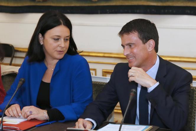 La ministre du logement Sylvia Pinel et le premier ministre Manuel Valls, le 11 juillet.
