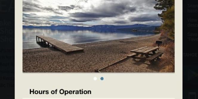 Application Tahoe Beaches