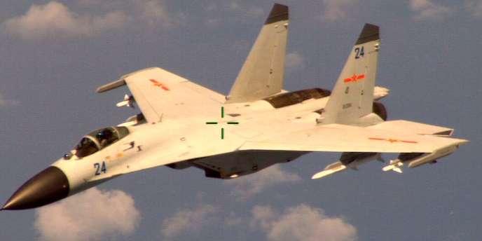 Image fournie par le Pentagone de l'avion de chasse chinois qui a