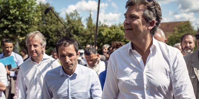 Benoît Hamon et Arnaud Montebourg à la Fête de la Rose 2014, le 24 août.