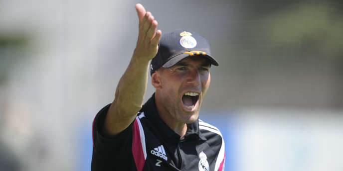 Zinedine Zidane, le 24 août à Madrid.