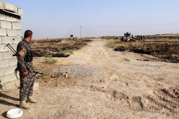 Un milicien chiite à Amerli, à 160 km, au nord de Bagdad, le 4 août.
