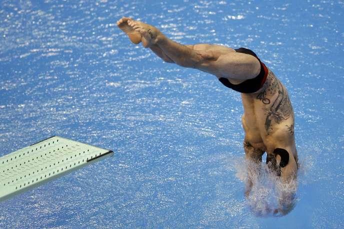 Matthieu Rosset a obtenu la médaille de bronze au plongeon à 1 m, le 19 août, à Berlin.
