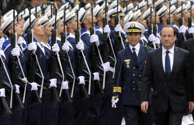 François Hollande lors d'une visite officielle à Casablanca, en avril 2013.