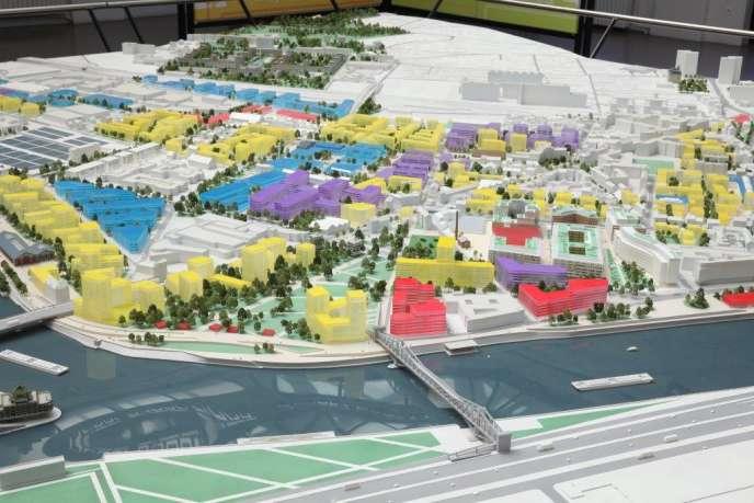 Maquette du projet d'aménagement du quartier