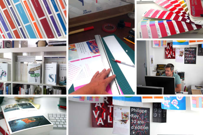 L'atelier Cheeri, chargé de concevoir les couvertures des éditions Philippe Rey et du Nouvel Attila.