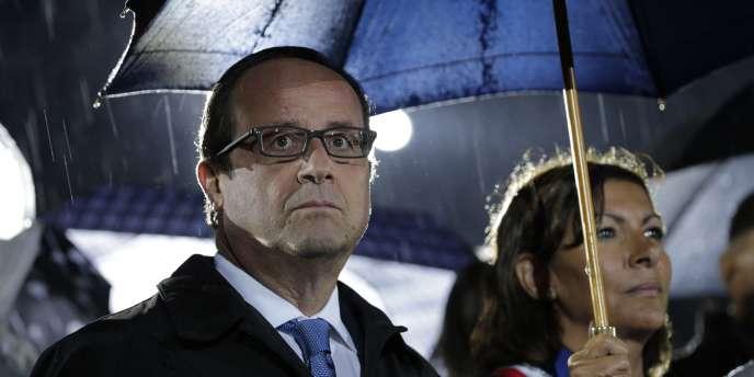 François Hollande aux commémorations de la libération de Paris, le 25 août.