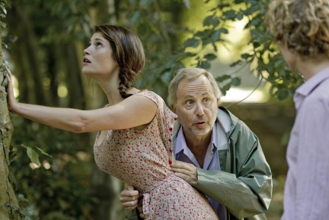 Gemma Arterton et Fabrice Luchini dans le film français d'Anne Fontaine, « Gemma Bovery ».
