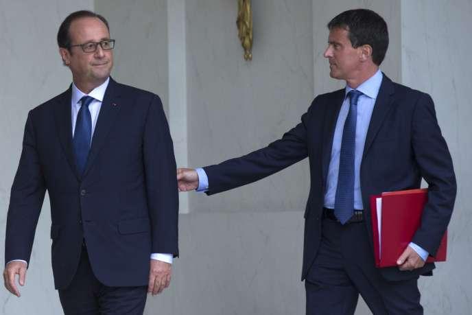 François Hollande et Manuel Valls, le 27 août à Paris.