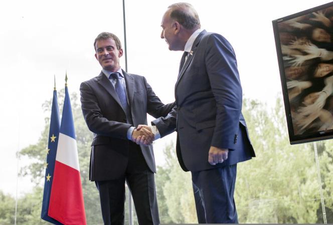 Manuel Valls et Pierre Gattaz, mercredi 27 août.