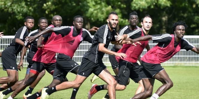 La petite équipe ariégeoise de Luzenac lors d'un entraînement à Toulouse.