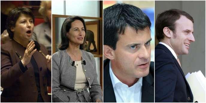 Martine Aubry, Ségolène Royal, Manuel Valls et Emmanuel Macron.