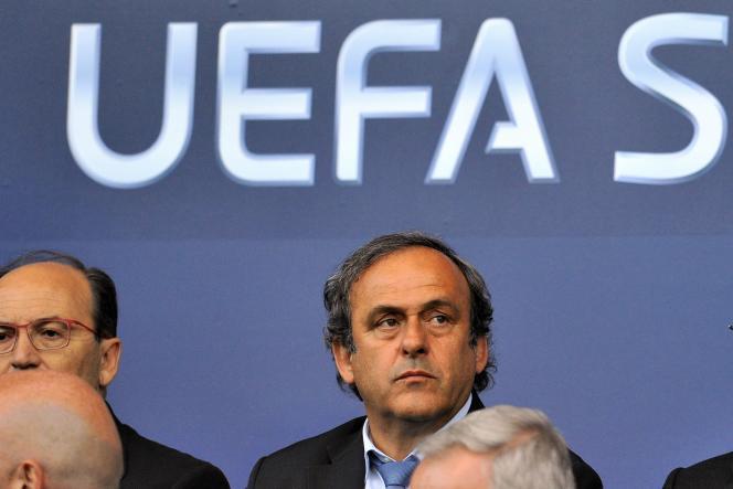 Michel Platini, le 12 août 2014 à Cardiff.