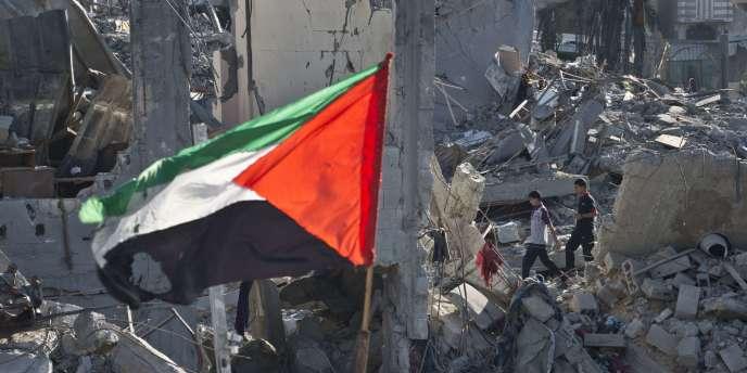 Des ruines à Gaza, le 27 août 2014.