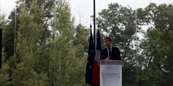Manuel Valls à Jouy-en-Josas, le 27 août.
