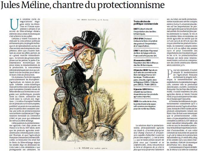 Jules Méline, détail de la page du supplément