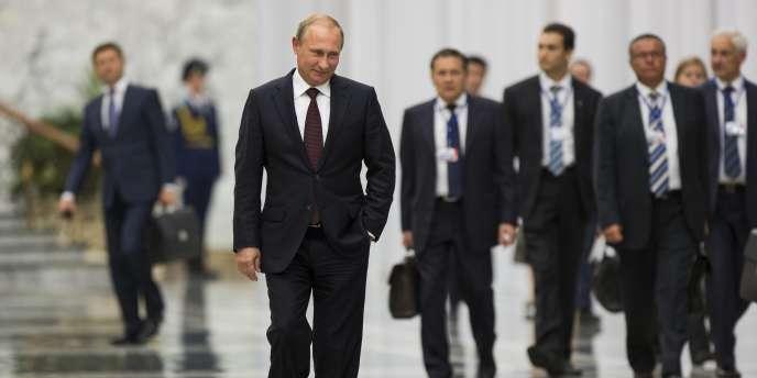 Vladimir Poutine à Minsk, le 27 août.