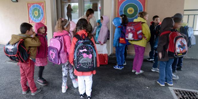 Premier jour d'école à Praz-sur-Arly, en Haute-Savoie, le 26 août.