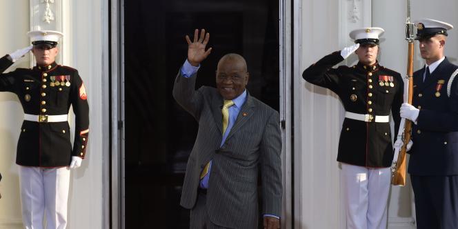 Thomas Thabane, premier ministre du Lesotho, à Washington, le 5 août.