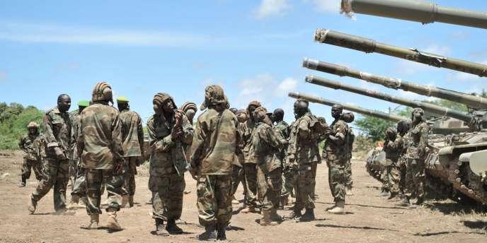Des soldats de l'Union africaine, le 29 août en Somalie.
