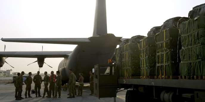 Un avion australien avant des largages de vivres sur l'Irak, le 13 août.