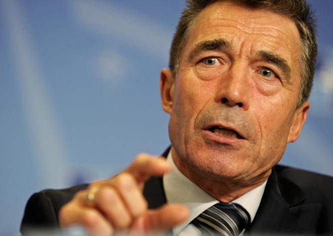 Le secrétaire général de l'OTAN, Anders Fogh Rasmussen, le 1er septembre à Bruxelles.