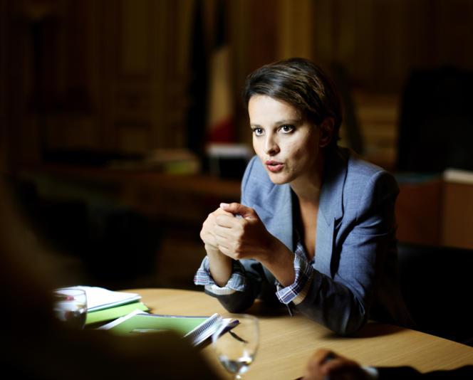 La ministre de l'éducation nationale, Najat Vallaud-Belkacem, à  Paris, le 29 août.
