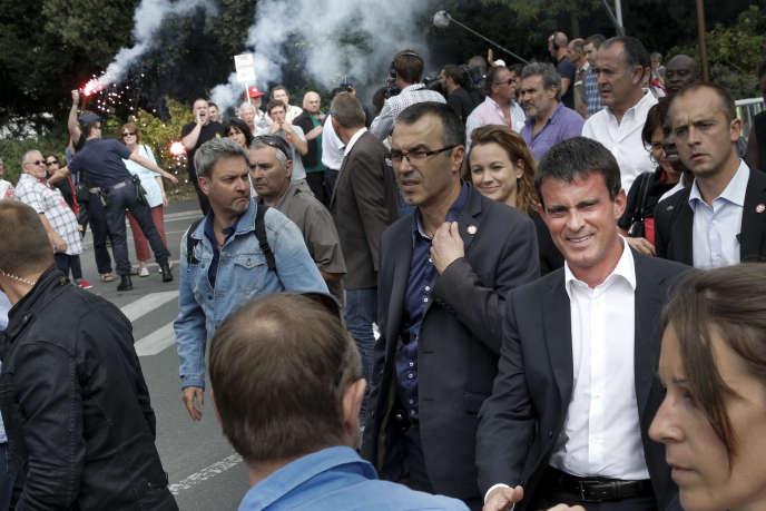 A l'université d'été du PS à La Rochelle, le 30 août, Manuel Valls avait été accueilli par des manifestants, notamment de la CGT du spectacle.
