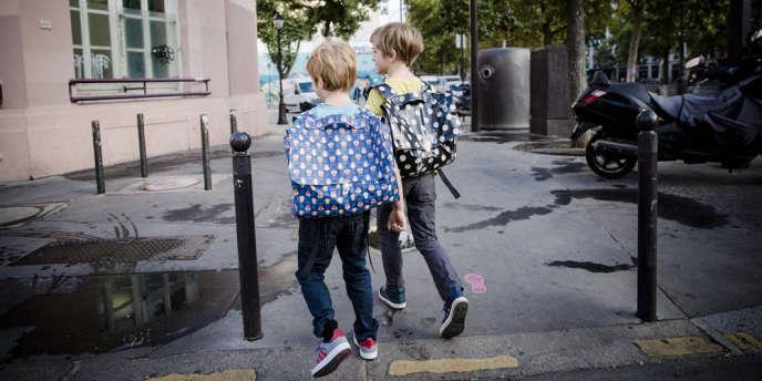 A Paris, le jour de la rentrée scolaire, le 2septembre.