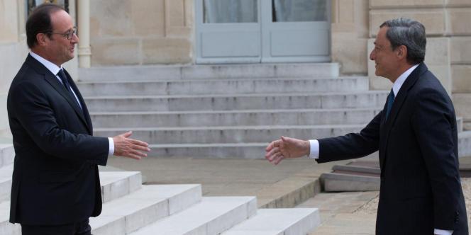François Hollande et Mario Draghi, le patron de la BCE, à l'Elysée, le 1er septembre.