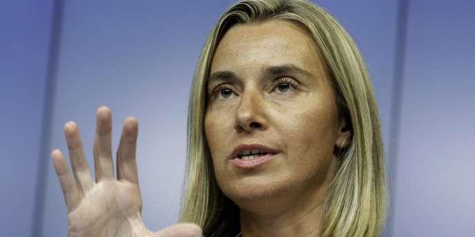 Federica Mogherini, la future représentante de la diplomatie européenne.