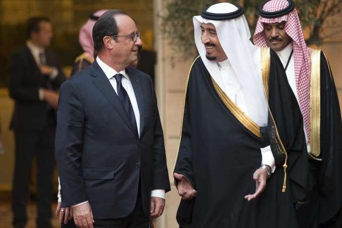 François Hollande et le prince saoudien Salman Ben Abdel Aziz Al-Saoud, le 1er septembre à l'Elysée.