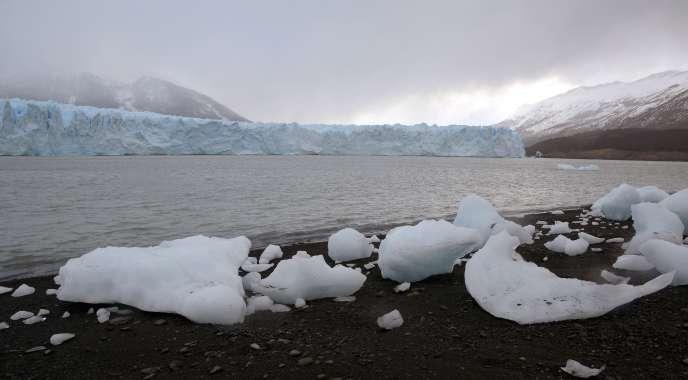 Au lac Argentino, en Patagonie argentine, le 8 août.