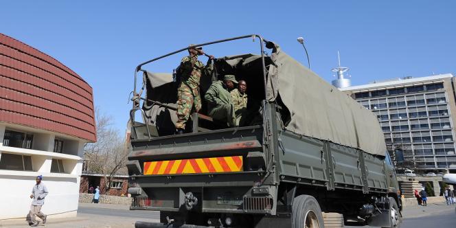 Une patrouille de l'armée du Lesotho à Maseru, la capitale du pays, le 2septembre.