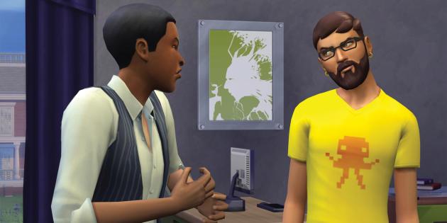 Rencontre entre Sims.