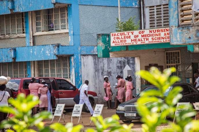 A Freetown, en Sierra Leone, le 28 août.