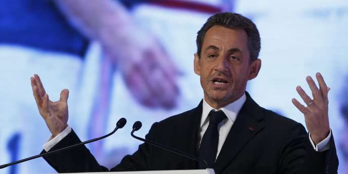 L'ancien président Nicolas Sarkozy lors d'une conférence sur le sport à Doha (Qatar), le 11 décembre 2012.