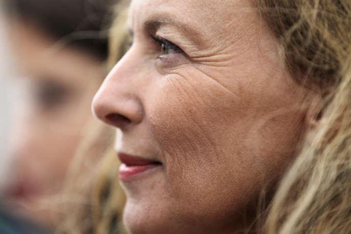 Valérie Trierweiler, à Ouistreham (Calvados), le 20 août.