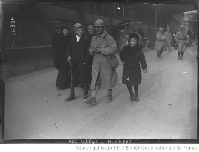 Permissionnaire à la gare de l'Est, le 22 novembre 1915.
