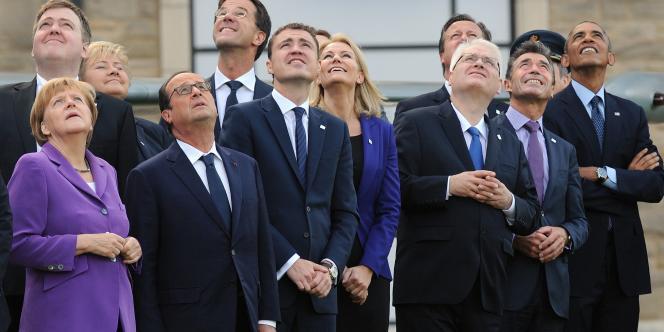 Les dirigeants des pays de l'OTAN, le 5 septembre à Newport.