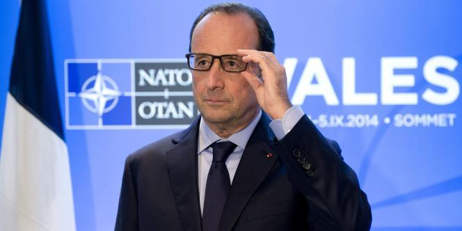 François Hollande lors du sommet de l'Otan à Newport, le 4 septembre 2014.