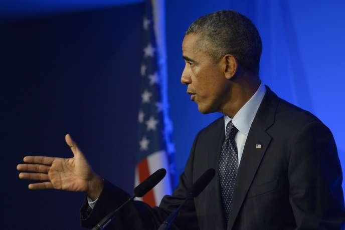 Barack Obama, le 5 septembre, au sommet de l'OTAN, à Newport, au Royaume-Uni.