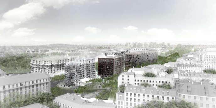 La friche urbaine de 1,5 hectare, attenante à l'ancienne gare d'Auteuil, était abandonnée depuis 1985.